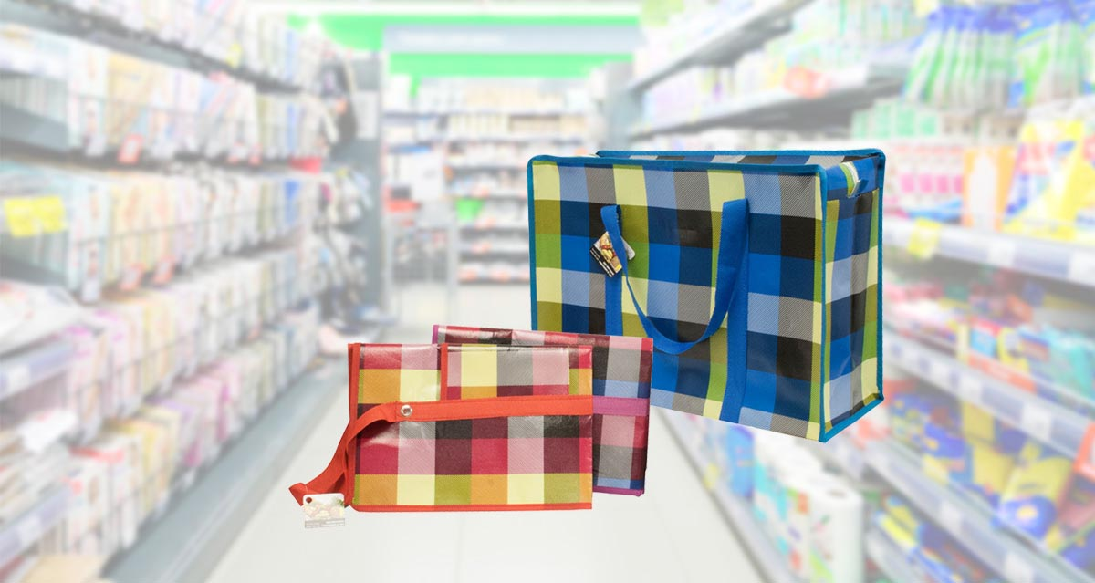 Modern houseware reusable shopping bags